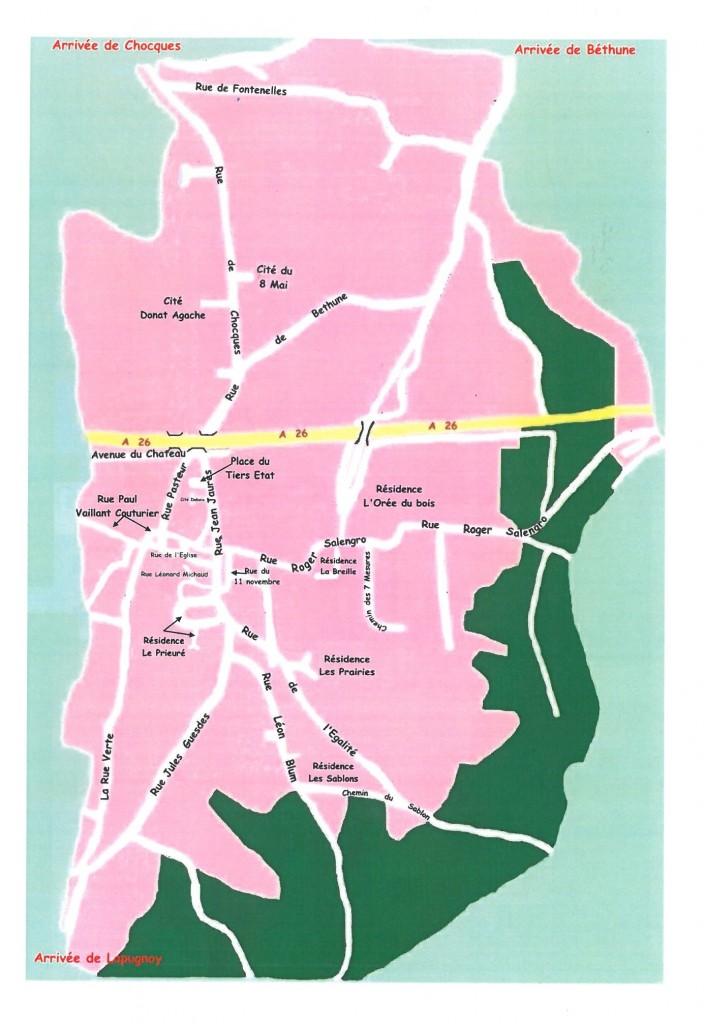 plan de la commune